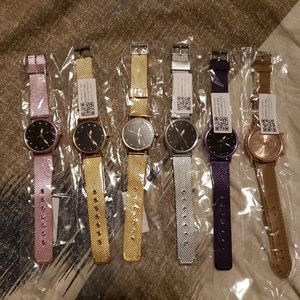 Set of 6 Costume Jewelry Watches
